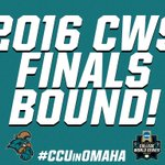 For the first time ever, Coastal Carolina University will play for an NCAA national championship! #CCUinOMAHA https://t.co/QghGdX8gBT