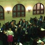 Nuestra líder @Jenniffer2012 dirigiendo caucus de @CamaraPNP #SiempreFiscalizando #UltimoDiaDeAprobacion https://t.co/Tfaps61PnM