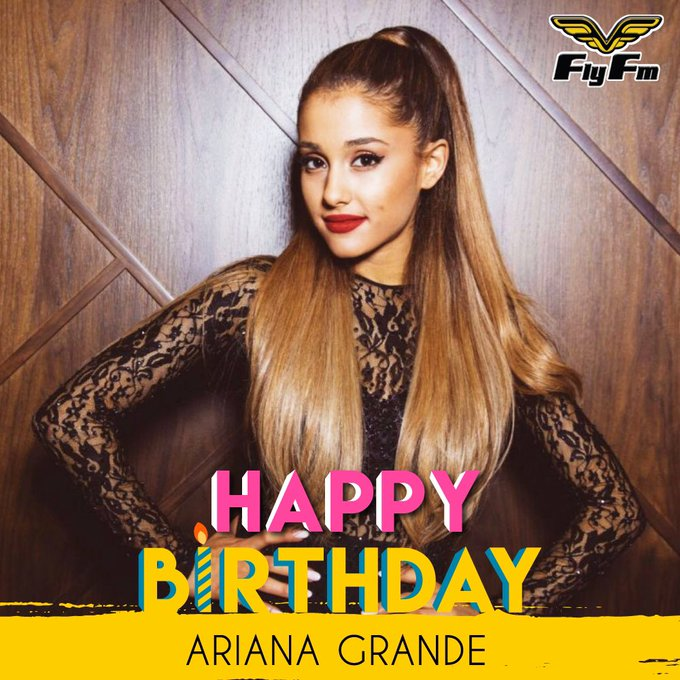 A big HAPPY 23rd BIRTHDAY to Ariana Grande!! And to all those celebrating their birthdays!