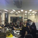 It's CRUNCH TIME as #Tasjam enters the final hours. Energy drinks are DELPOYED. Tools down at 6pm! https://t.co/cLDnaS1Qpu