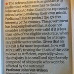Return to Parliamentary Democracy? Interesting letter in the Guardian: https://t.co/WrnKt46SAL