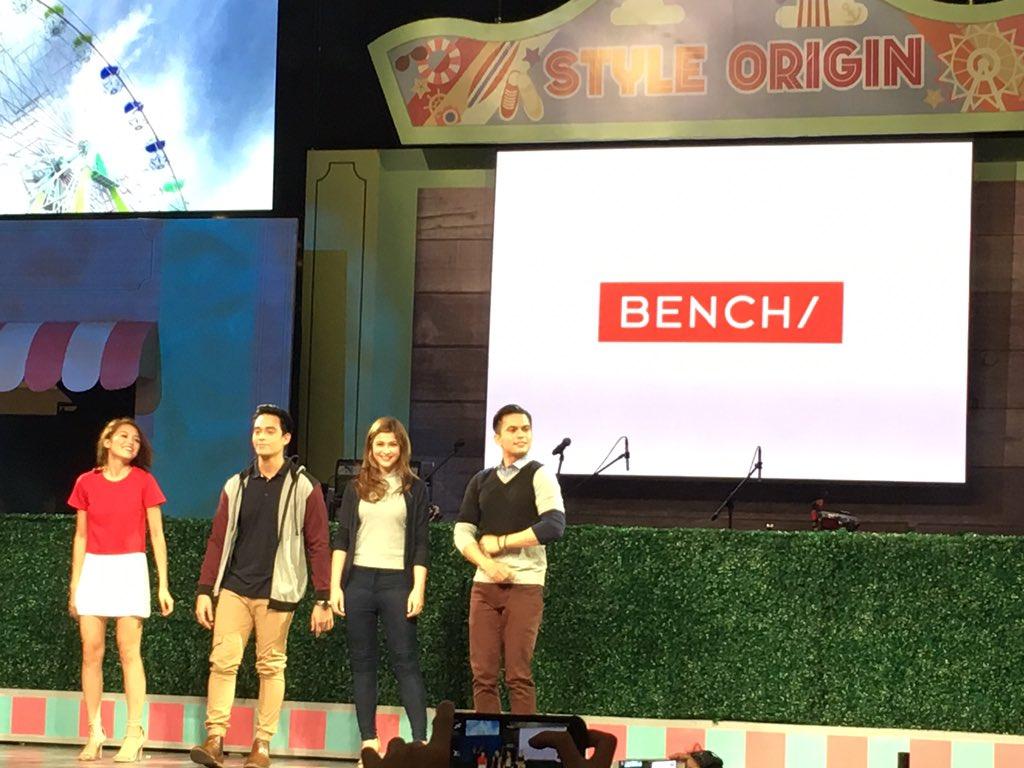 Miho Nishida, Diego Loyzaga, Carla Abellana, and Tom Rodriguez closing the show with Bench!