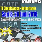 Tonight nobar MotoGp seri ke - 8 sirkuit Assen - Belanda jam 19.00 wita at @cafe_tiga.cc:@962Cradio https://t.co/KdFIU0Fhrq