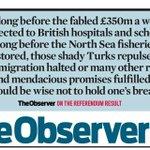 The Observer on those Brexit promises. Over to you @BorisJohnson https://t.co/NIOpmqdmvb