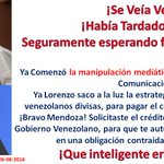 @vencancilleria Lorenzo Mendoza Saco a La Luz Su estrategia, necesita nuestras divisas para pagar  crédito al BBVA. https://t.co/GohnFCTuYx