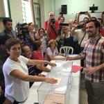 Bueno, pues ya he votado! En Rincón de la Victoria, en Málaga. Votando por un nuevo país ;-) https://t.co/TrDAr0nhXR