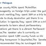 Vihiga County MCAs spent Shs 16M on a trip to Uganda to study DEVOLUTION yet theres NO devolution in Uganda! WEEP! https://t.co/mBvertPxvn