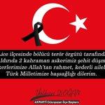 Diyarbakır Licede 2 şehidimiz var. Rabbim, mekanlarını cennet eylesin. Yüce Türk Milletimizin başı sağolsun https://t.co/dkT1oyTJvw