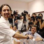 "DIRECTO l @Pablo_Iglesias_ dice que ""salen a ganar"" y vuelve a tender la mano al PSOE https://t.co/CS3RPAinBB #26J https://t.co/gotqgEdxzL"