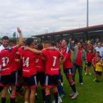 Así están celebrando el ascenso los jugadores de #Osasuna Promesas. https://t.co/iSyWkqvZ3H
