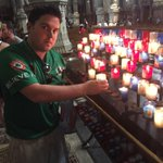 This is Gaz. Hes in France. He lit a candle for the lads. Be like Gaz. #COYBIG #IRLFRA https://t.co/f4R0u2icUR