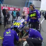 Dry lines forming already, teams are preparing for bike swaps!???? #DutchGP https://t.co/42YQkl6Es0