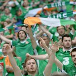 The #IRL fans making themselves heard! It is an atmosphere to savour in Lyon. The teams are on their way! #COYBIG https://t.co/crLR1G3gSU