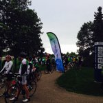 AND THEYRE OFF! The 95 km #RideDontHide cyclists have hit the road to end stigma & support mental health #YQR https://t.co/rmEWHYcny8
