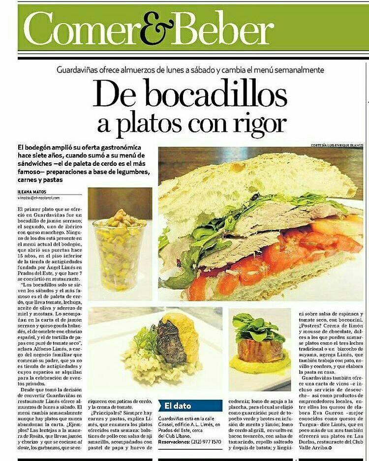 Hoy en Comer & Beber con fotos de @gourmeturbano ¡Imperdible! mil gracias @imatosj https://t.co/B5NRrnsYcc