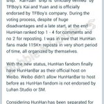 Details about 勋鹿/hunhan ranking 3rd on Weibos Super Topic!  Still going strong after 2 yrs of separation! 😭😘💕 https://t.co/lfVIbyuhcg