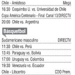 FOTO CARTELERA. Qué ver de deportes por TV en domingo 26 de junio. (via @ElMercurio_DEP) #chile https://t.co/6mGf6bXY4U