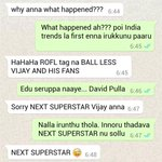 Meanwhile Vijay & GVP ???????????? BALL LESS VIJAY AND HIS FANS https://t.co/LAVkLMELCD
