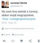Mert megígértem, meg amúgy is megérdemelnénk. #hun #OrangeSponsorsYou https://t.co/p3nQDtcKUP