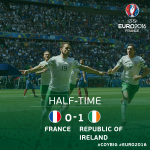 What a half from Ireland! Robbie Bradys penalty is the difference at the break! #COYBIG https://t.co/uJ7jrVS45N