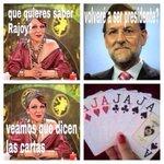 - ¿Qué quieres saber Rajoy? + ¿Volveré a ser Presidente? - Veamos que dicen las cartas... #UnidosPodemos26J https://t.co/aO3wTQZYrF