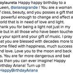 .@TroyLauretas birthday message to Ariana ???? #HappyBirthdayArianaGrande https://t.co/l4MEOHjqW6