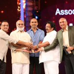 Congrats Team @BaahubaliMovie For Best Movie in #CineMAAAwards2016 https://t.co/q98nIyi07e
