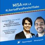 Hoy, todos unidos junto a los familiares de Pancho y Gabo,presos políticos de la dictadura. Vzla y el mundo con Uds! https://t.co/KB3G3TbD60