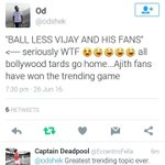 Appreciation from North Indians @odshek For Vijay and his fans BALL LESS VIJAY AND HIS FANS https://t.co/3aQ3sSN9yD