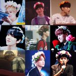 EXO x flower-crown list is almost complete (chens pic is edited) ???????????? https://t.co/YsKIhdB3Ut