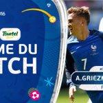[#EURO2016] GRIEZMANN est élu homme du match !!! #FRA https://t.co/xVkQMf9xsY