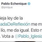 """????No es la 1° vez que Echenique se salta la ley ¿Y estos son los del partido de """"la ley y el orden"""" ???? #Elecciones26J https://t.co/U3yavRia3c"""