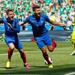 #EURO2016 Antoine Griezmann rescues France as the hosts fight from a goal down to beat Ireland FT: FRA 2-1IRL https://t.co/CcP2IFMWLi