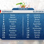 #EURO2016 ¡Alineaciones! #GER vs #SVK https://t.co/QgYCcwBa07