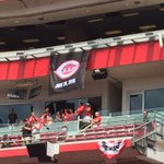 Pete Rose will have #Reds uniform No. 14 hung here in a few minutes.@Local12 https://t.co/HR7qJaoI3B