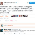 Who gave Dr @Swamy39 the authority to renounce Hindu claim over 39,997 Hindu temples seized by Muslims? https://t.co/ByGZnoXgnv