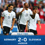 Goals from Boateng and Gomez put Germany in control at the break despite Özils penalty miss. #GERSVK #EURO20161 https://t.co/YHpkqcBVV8