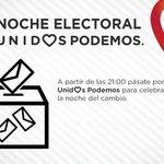 A partir de las 21h os esperamos en #LaCarpa para seguir y celebrar la noche electoral de Unid❤s Podemos en Zaragoza https://t.co/Q3UfDsDhwP