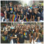 .@NBA Commissioner Adam Silver, Deputy Commissioner Mark Tatum & NBA employees march in the #NYCPride Parade! https://t.co/xKF6jN6Mv4