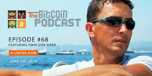 The #Bitcoin Podcast #68: Deconstructing #TheDAO Attack w/ guest Emin Gün Sirer @el33th4xor! https://t.co/51jeodvSay https://t.co/Shx2ttM6Nn