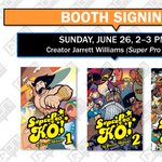 SUPER PRO K.O.! creator @JarrettWilliams is signing at our booth #502 in 15 MINUTES! #alaac16 https://t.co/uUkNrrkI8a