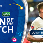 #GER winger Julian Draxler is the @carlsberg Man of the Match 👏 #EURO2016 https://t.co/YYlYfHelTd