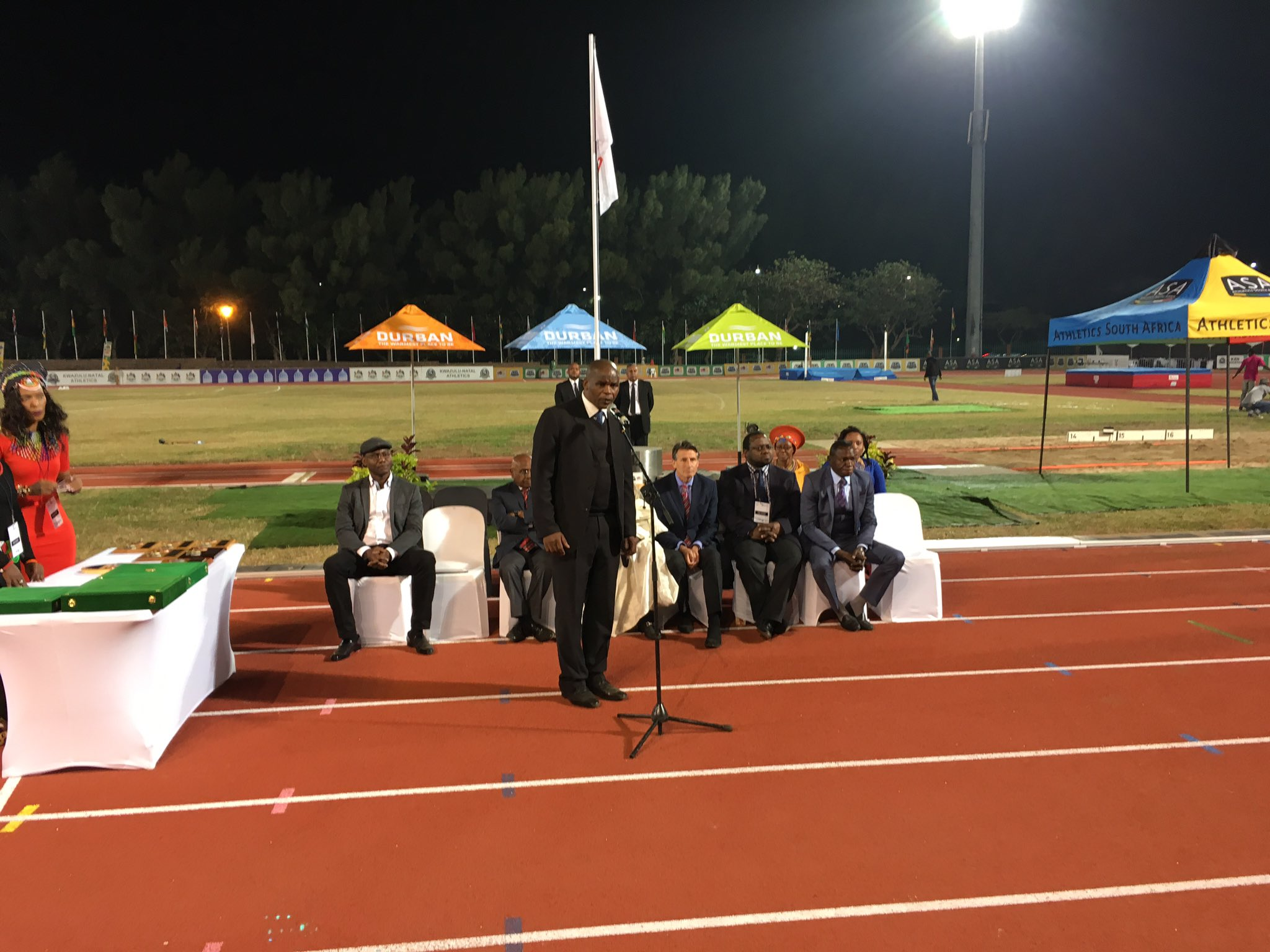 Closing ceremony and baton handover of the 20th #AfricanChamps #Durban2016 #CAA2016 https://t.co/myoBywlFlX