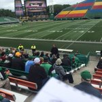 Chris Jones took time to ask for the #Riders railbirds to refrain from tweeting roster info, etc during practice. https://t.co/rTGs9UCoof