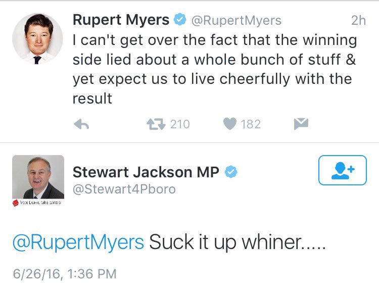 That's an MP replying to a legitimate point made by a journalist, this is the level of British politics right now. https://t.co/ja1xXlT3Ks