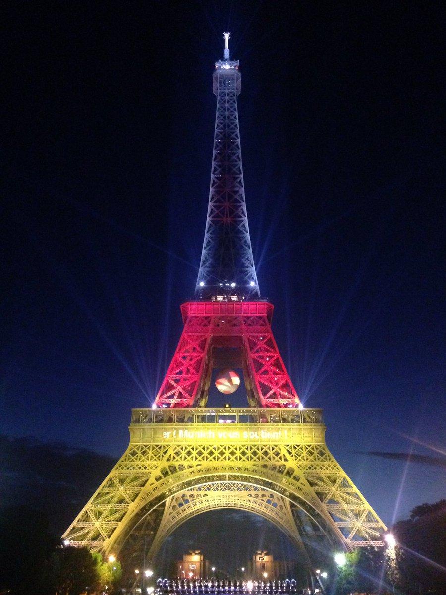 La tour eiffel aux couleurs de l 39 allemagne ger - Couleur de la tour eiffel ...