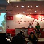 """""""Hay PSOE para rato. Hemos sido la 2a fuerza en la ciudad de Zaragoza"""" @JLambanM en sede @aragonpsoe https://t.co/pm2Z1AgUQQ"""
