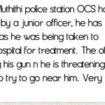 BREAKING: Muthithi police station OCS has been shoot by a junior officer.. @KTNKenya @Ma3Route https://t.co/f9RVkMzOu8