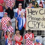 Croatia fans before the match were like..... Who is crying now🙌🙌🙌🙌🙌 https://t.co/VVHp4ovAId