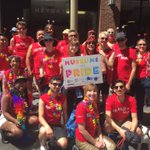 Its hot and happy in the #SFPride Parade queue! Were excited to share the big #MuseumsWithPride love today ❤️???????????????? https://t.co/CohQLc3ISQ